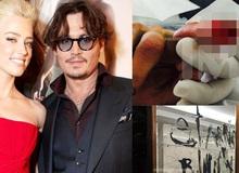 Johnny Depp cắt đứt đầu ngón tay, viết lên gương tố Amber Heard phản bội