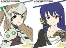 Cực lạ mắt với bộ tranh Overwatch phong cách Love Live!