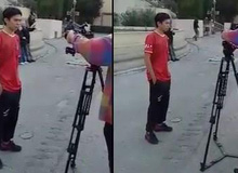 """Bất chấp thời tiết, QTV vẫn """"chiến"""" áo cộc tay quay trailer Siêu Sao Đại Chiến tại Barcelona"""