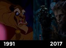"""So sánh từng cảnh của """"Beauty and the Beast"""" năm 2017 với bản hoạt hình năm 1991"""