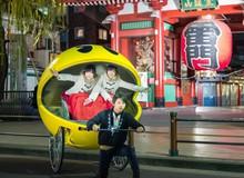 Xe kéo hình Pac-Man mùa lễ Giáng Sinh, chắc chỉ người Nhật mới nghĩ ra được