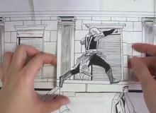 Tròn mắt kinh ngạc trước phim Assassin's Creed phiên bản vẽ tranh