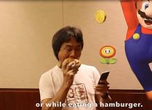Giám đốc sáng tạo của Nintendo vừa ăn vừa chơi Super Mario Run