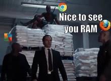 Chết cười Deadpool được đem ra làm ví dụ cho việc Chrome chiếm RAM khủng như thế nào