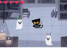 Halloween năm nay, trang chủ Google cho game thủ hóa thân thành mèo phù thủy đi bắt ma