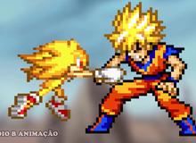 Son Goku hoá thần đấu với Sonic vẫn bị đập 'te tua'