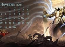 """Bộ ảnh lịch chủ đề """"Diablo III"""" tuyệt đẹp dành tặng game thủ"""