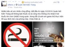 Lo cho sức khỏe của khách, chủ quán net quyết tâm cấm hút thuốc