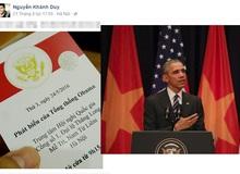 CEO của Tofu Games bất ngờ được mời tới buổi phát biểu của Tổng thống Obama
