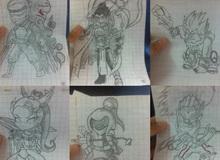 Game thủ Việt vẽ tướng LoL đẹp đến nỗi hàng trăm người mong được vẽ tặng