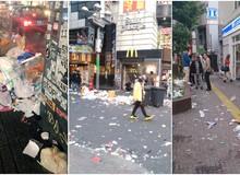 Khu phố sầm uất nhất Nhật Bản ngập trong rác thải sau đêm Halloween