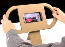 Hướng dẫn cách tự chế vô-lăng chơi game đua xe chỉ bằng... bìa carton