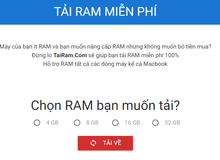 Sau 2 năm tồn tại, website Tải Ram, Tải VGA của Việt Nam đã chính thức ra đi