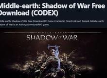 Middle-earth: Shadow of War - Game bom tấn nặng gần 100GB bị crack chỉ sau hơn 1 ngày