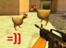 """""""Cạn lời"""" với bản mod đưa con gà trong Counter Strike lên sàn chọi tay đôi, cả cảnh lẫn cướp chỉ ngồi cổ vũ"""