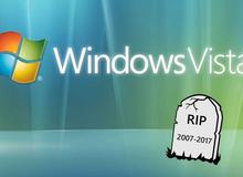 """Sau Windows XP, tới lượt Vista bị """"khai tử"""""""