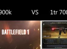 Tranh cãi trước việc 1 game thủ băn khoăn nên bỏ 1700k mua súng sơn phết trong Đột Kích hay 900k để mua bản quyền game đỉnh Battlefield 1