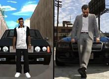 """14 hình ảnh """"xưa và nay"""" cho thấy đồ họa một trời một vực của """"Grand Theft Auto"""""""