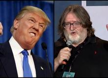 Chủ tịch Valve - Gabe Newell đang lo mất ăn mất ngủ vì tổng thống Donald Trump