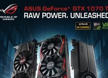 Lộ diện card đồ họa Asus GeForce GTX 1070 Ti, thiết kế y hệt GTX 1080 Ti, bán ra ngày 02/11 tới