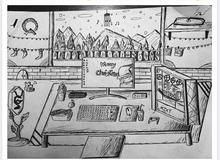 """Đam mê chơi game, thanh niên ngồi vẽ """"góc chiến lược"""" trong giờ Toán"""