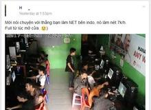Quán net tại Indonesia 7k/tiếng vẫn xài ghế nhựa, nhưng bất ngờ là khách luôn full máy