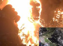 Mô hình Kong giá hơn 1 tỷ đồng còn lại trơ khung sau đám cháy lớn tại buổi ra mắt