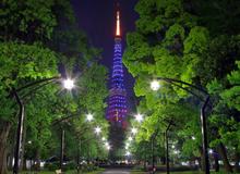 Mừng sinh nhật 30 tuổi của Final Fantasy, cả tháp Tokyo được thắp sáng rực rỡ