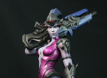 Cuồng Widowmaker, game thủ Overwatch tự tay làm ra bức tượng cao 12 inch