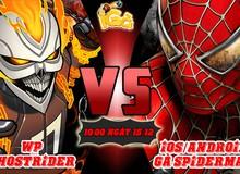 iGà mở sever mới Gà SpiderMan và WP GhostRider, tặng GiftCode giá trị