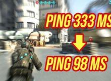Xuất hiện phần mềm thần kỳ tiêu diệt giật, lag khi chơi game: Ping từ 300 giảm còn 98!