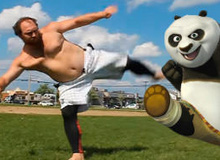 Giật mình trước anh chàng 'Kungfu Panda' ngoài đời thực