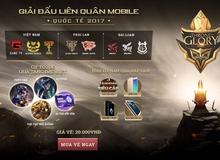 Liên Quân Mobile - Giải đấu quốc tế Garena Throne of Glory 2017 mở bán vé từ ngày 08/07