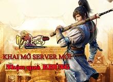 Khai mở server mới, Song Long Đại Chiến tặng ngay Giftcode giá trị