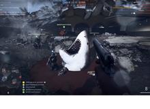 Đau tim với cảnh cá mập khổng lồ ăn thịt người xuất hiện trong Battlefield 1