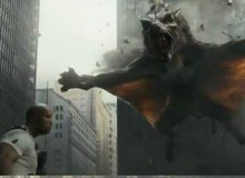 The Rock hoảng sợ bỏ chạy trước... sói bay khổng lồ trong phim mới Rampage