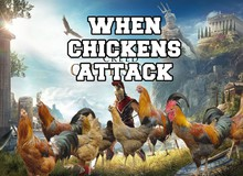 Tung hoành chán chê trong Skyrim, những chú gà tấn công cả sang Assassin's Creed Odyssey