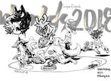 """CKTG 2018: Phong Vũ hóa """"trẻ trâu"""", đạp giữa bụng sói già Flash Wolves trong tranh biếm họa của tác giả người Đài Loan"""