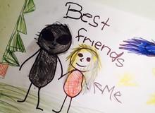 Những bức tranh rùng rợn được vẽ bởi trẻ em đến người lớn khi xem cũng thấy ám ảnh