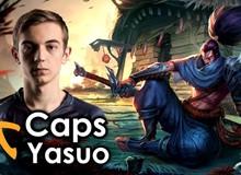 """Yassuo: """"Tốt nhất là Caps nên chọn trang phục Yasuo nếu Fnatic vô địch, nếu không tôi sẽ đập cậu ta một trận."""""""