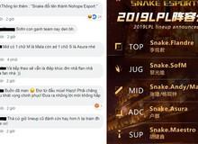 """Phản ứng của fan hâm mộ trước những đồng đội mới """"vô danh"""" của SofM: Snake Esports đổi tên thành No Hope Esports được rồi"""