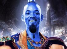 Sai quá sai với tạo hình chàng ngố Aladdin, phản diện Jafar thì đẹp trai như soái ca còn Will Smith không khác gì... Thần Hề