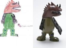 Bất ngờ với ý tưởng chuyển đổi những bức tranh vẽ nguệch ngoạc của trẻ con thành đồ chơi 3D