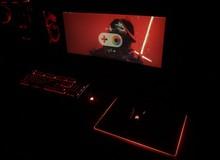 Góc chơi game đỏ đen đầy 'ma mị' tuyệt đẹp trong màn đêm
