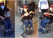 Chỉ dùng hộp giấy đồ chơi, nhà phát minh Nhật Bản biến xe lăn trở thành xe đua dành cho trẻ nhỏ