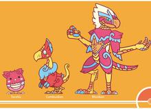 Ngắm các Pokemon hiện đại được vẽ lại theo hình dáng cổ xưa