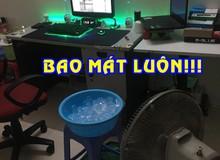 Trời nóng không có điều hoà và đây là sáng kiến 'quặn ruột' của game thủ Việt để ngồi chơi game vẫn mát