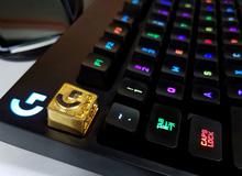 Mẫu keycap đặc biệt 'vàng óng ánh' trị giá tới gần triệu bạc của Logitech sắp cập bến Việt Nam
