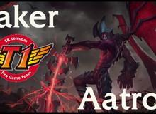 LMHT: Quỷ Vương Faker cầm Aatrox đi mid bán hành cho team CuVee
