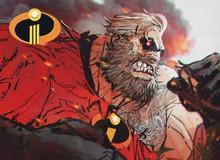 """Chiêm ngưỡng hình ảnh """"siêu ngầu"""" của Gia Đình Siêu Nhân được vẽ theo phong cách siêu anh hùng"""